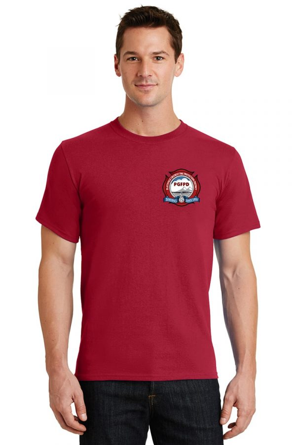 Platteville Gilcrest Fire Protection District Adult Red Short Sleeve T-shirt