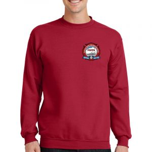 Platteville Gilcrest Fire Protection District Adult Red Crew Neck Sweatshirt