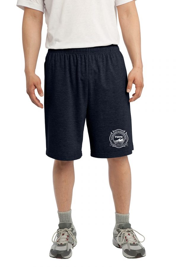Platteville Gilcrest Fire Protection District Adult Navy Jersey Knit Short with Pockets