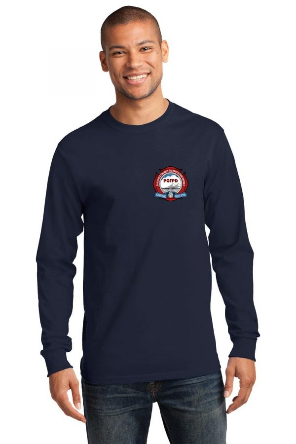Platteville Gilcrest Fire Protection District Adult Navy Long Sleeve T-Shirt