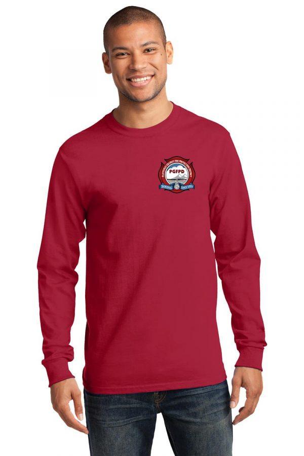 Platteville Gilcrest Fire Protection District Adult Navy Long Sleeve T-ShirtPlatteville Gilcrest Fire Protection District Adult Red Long Sleeve T-Shirt
