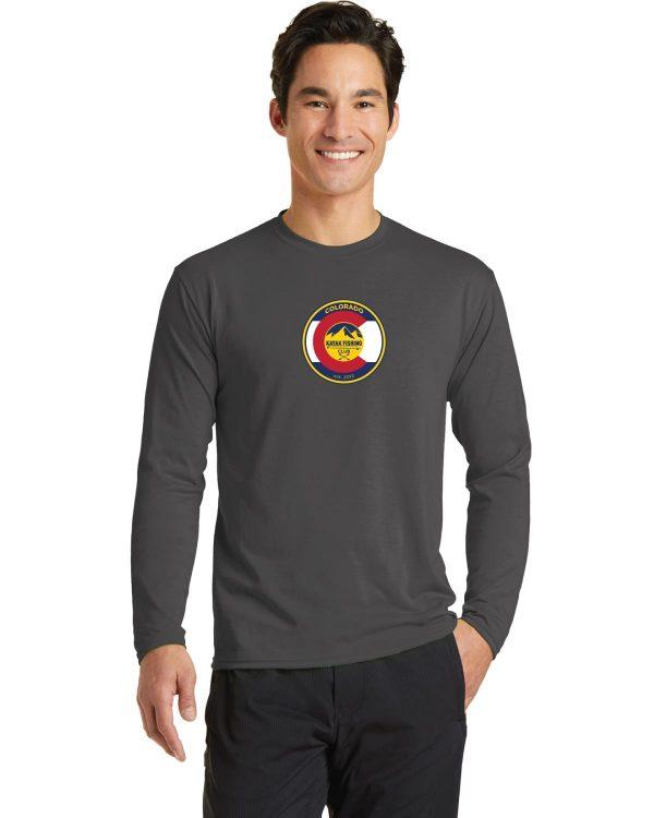 Colorado Kayak Fishing Club Charcoal Grey Long Sleeve Performance Blend T-Shirt
