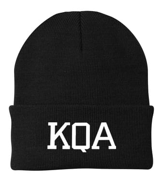 KQA Black Cuffed Knit Cap