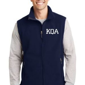 KQA Adult Navy Full-Zip Fleece Vest