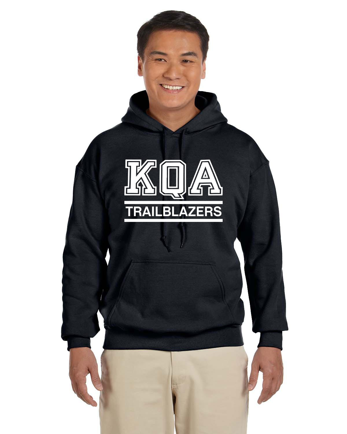 KQA Adult Black Pullover Hooded Sweatshirt