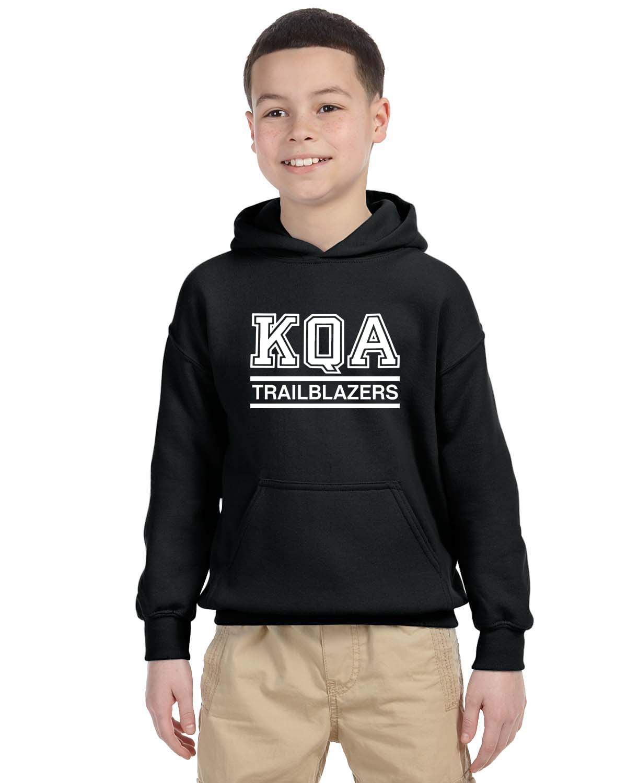 KQA Youth Black Pullover Hooded Sweatshirt