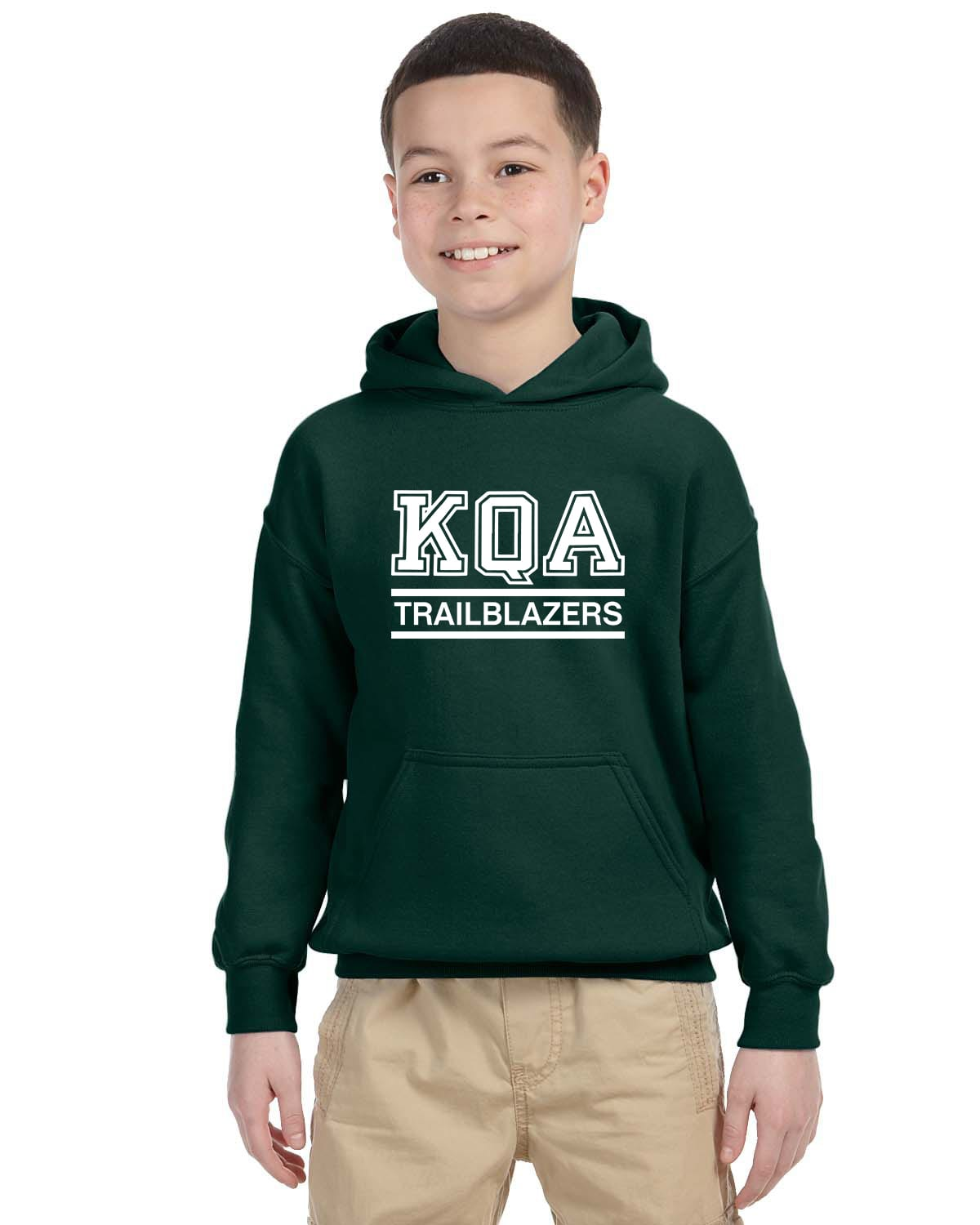 KQA Youth Forest Green Pullover Hooded Sweatshirt