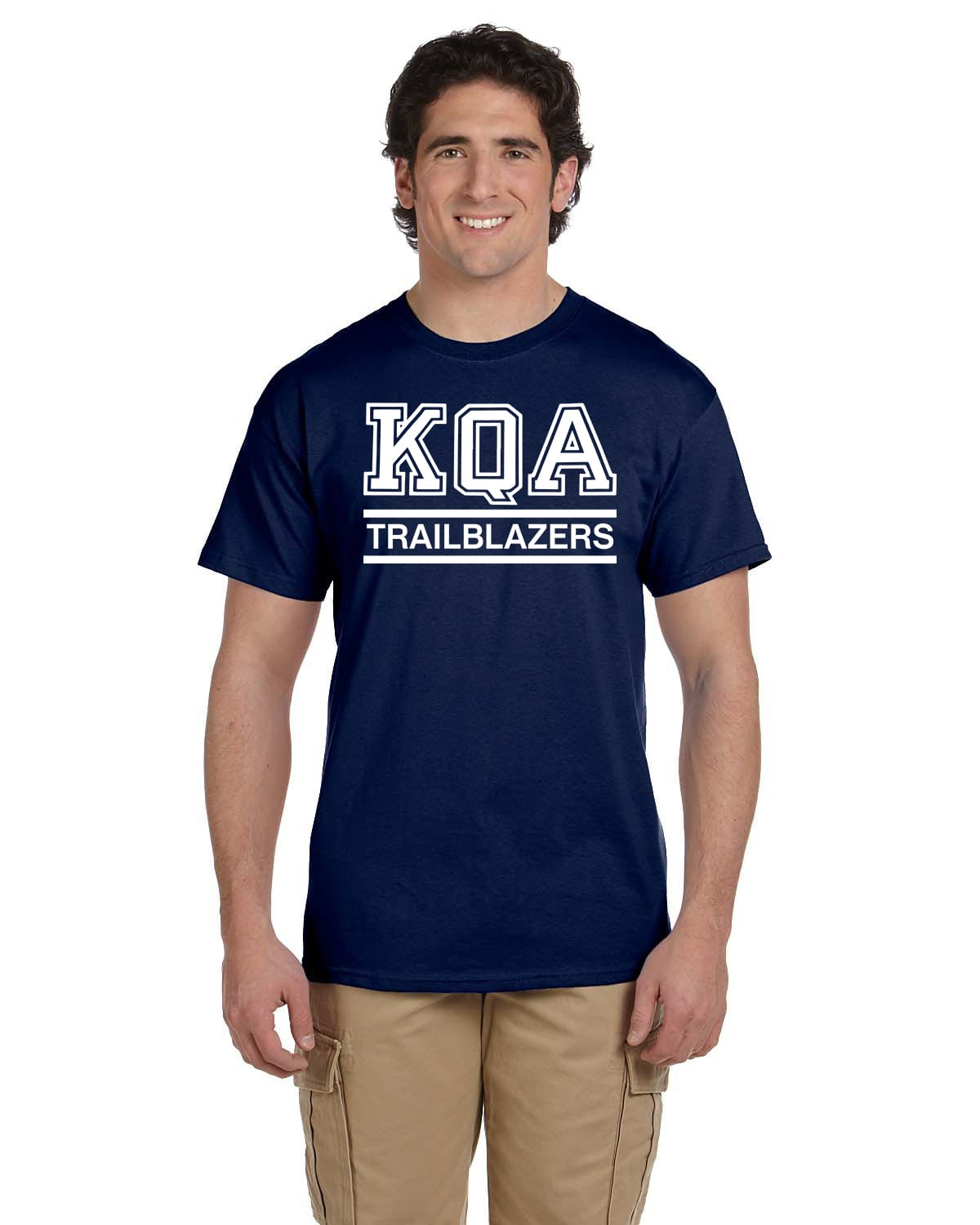 KQA Adult Navy Short Sleeve Cotton T-shirt
