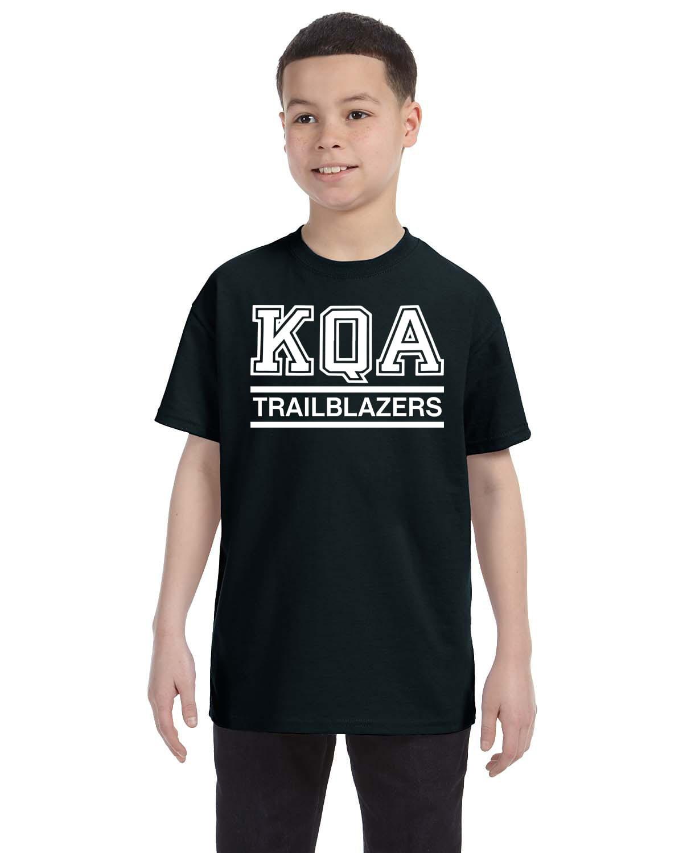 KQA Youth Black Short Sleeve Cotton T-shirt