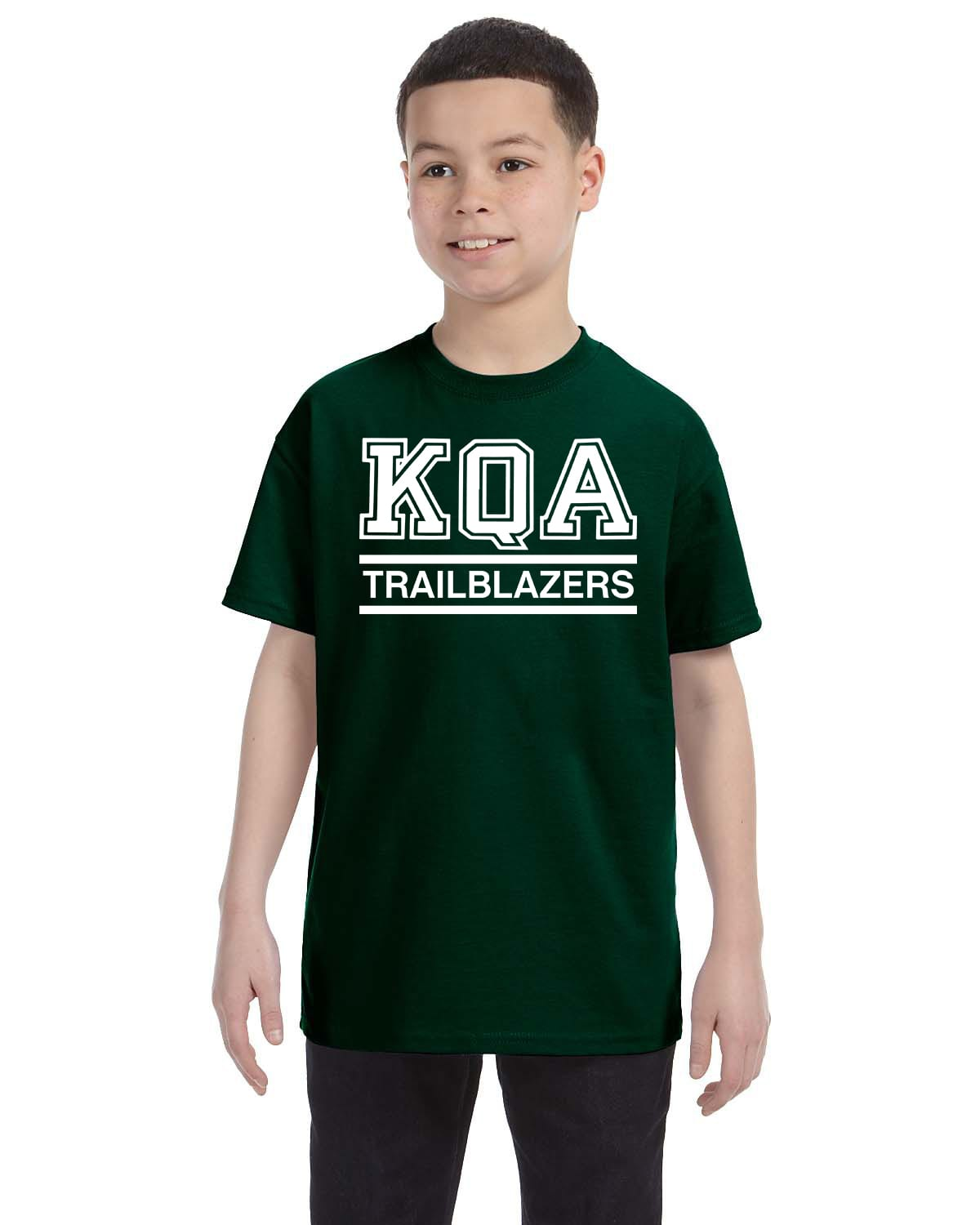 KQA Youth Forest Green Short Sleeve Cotton T-shirt
