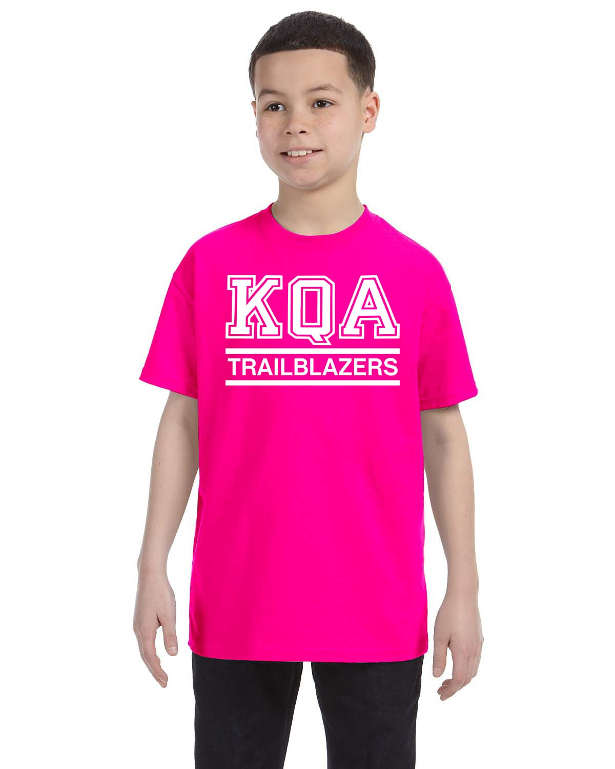 KQA Youth Pink Short Sleeve Cotton T-shirt