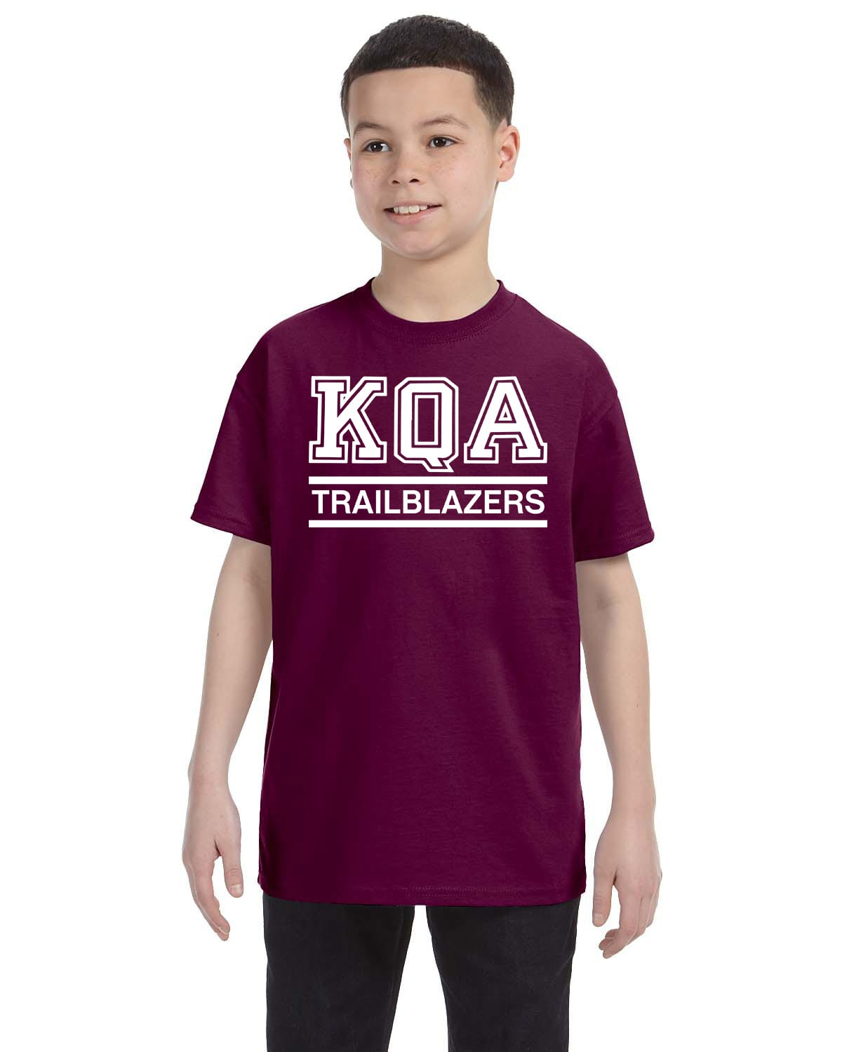 KQA Youth Maroon Short Sleeve Cotton T-shirt