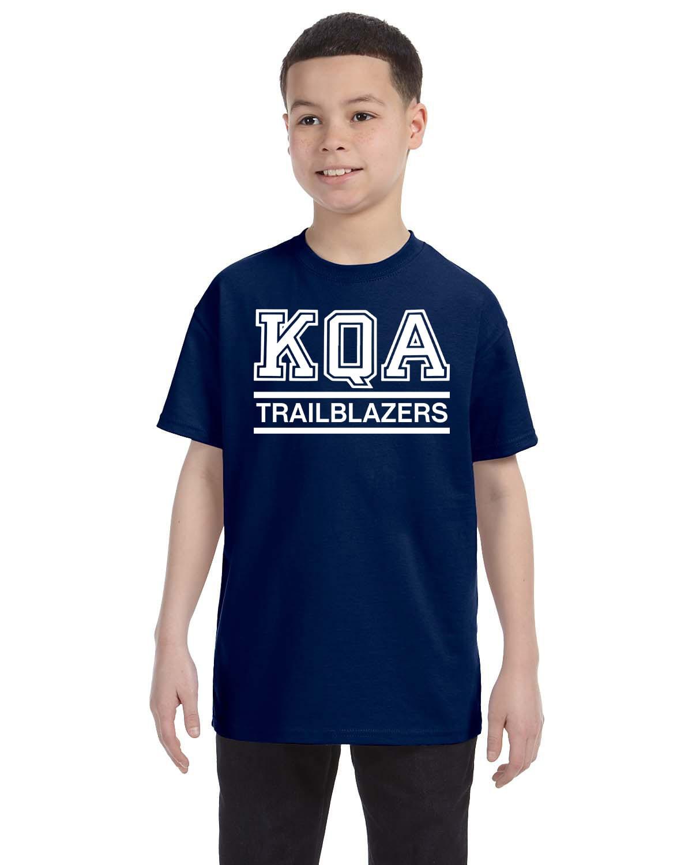 KQA Youth Navy Short Sleeve Cotton T-shirt