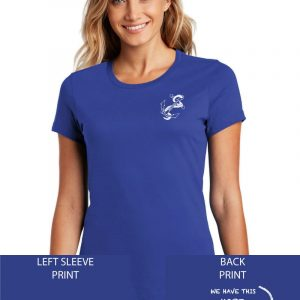 Grace Community Church Ladies Royal Short Sleeve Cotton T-shirt
