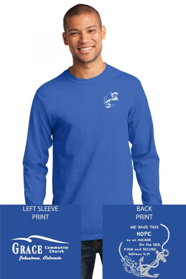 Grace Community Church Ladies Retreat Royal Blue Long Sleeve Cotton T-shirt