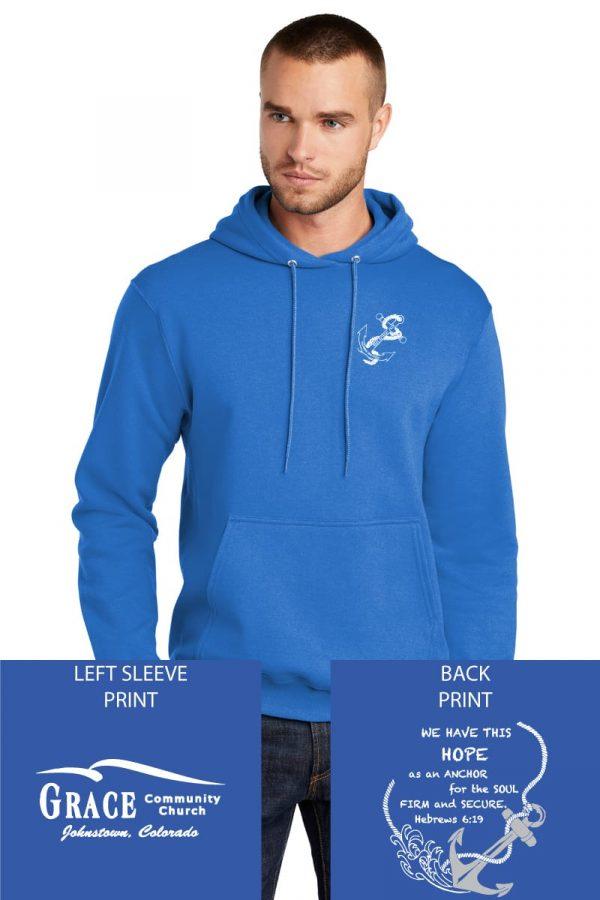 Grace Community Church Ladies Retreat Royal Blue Fleece Pullover Hooded Sweatshirt