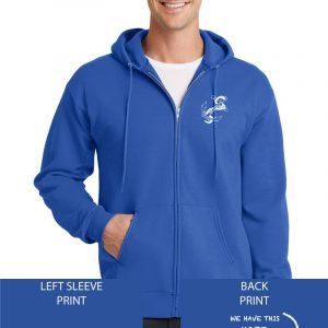 Grace Community Church Ladies Retreat Royal Blue Full Zip Hooded Sweatshirt