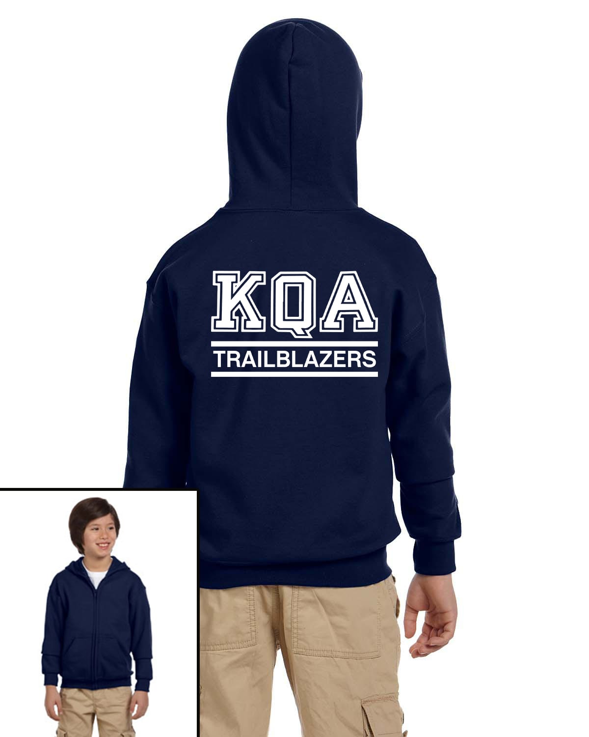 KQA Youth Navy Full-Zip Hooded Sweatshirt