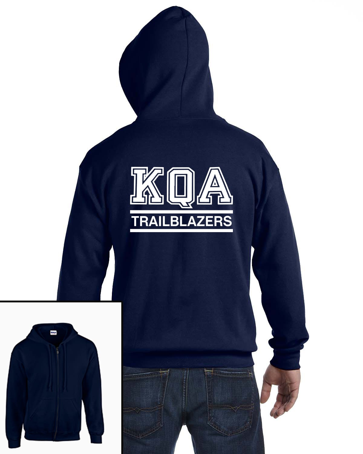 KQA Adult Navy Full-Zip Hooded Sweatshirt