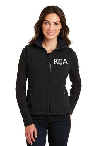 KQA Ladies Black Full-Zip Fleece Vest
