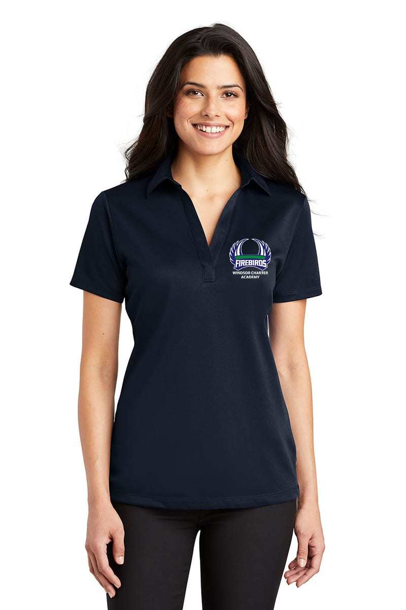 WCA Ladies Navy/White Color Block Polo