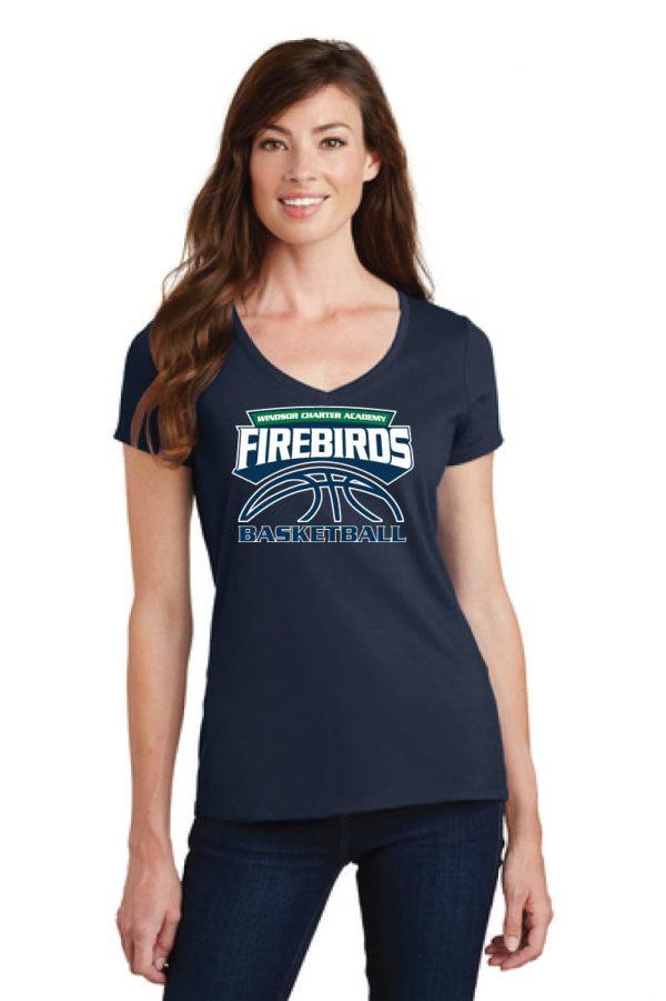 WCA Basketball Ladies Fan Favorite V-Neck T-Shirt