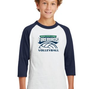 WCA Volleyball Youth Colorblock Raglan Jersey