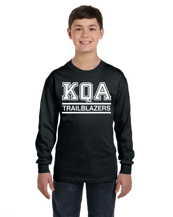 KQA Youth Black Long Sleeve Cotton T-shirt
