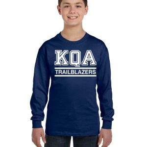 KQA Youth Navy Long Sleeve Cotton T-shirt