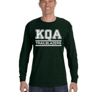 KQA Adult Forest Green Long Sleeve Cotton T-shirt