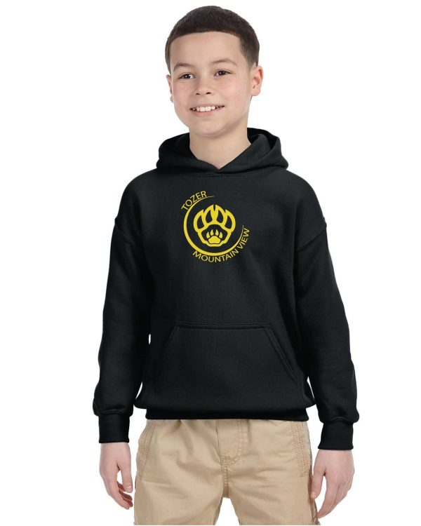 Tozer/Mountain View Elementary School Youth Black Fleece Pullover Hooded Sweatshirt