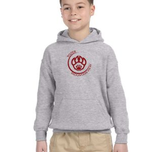 Tozer/Mountain View Elementary School Youth Grey Fleece Pullover Hooded Sweatshirt