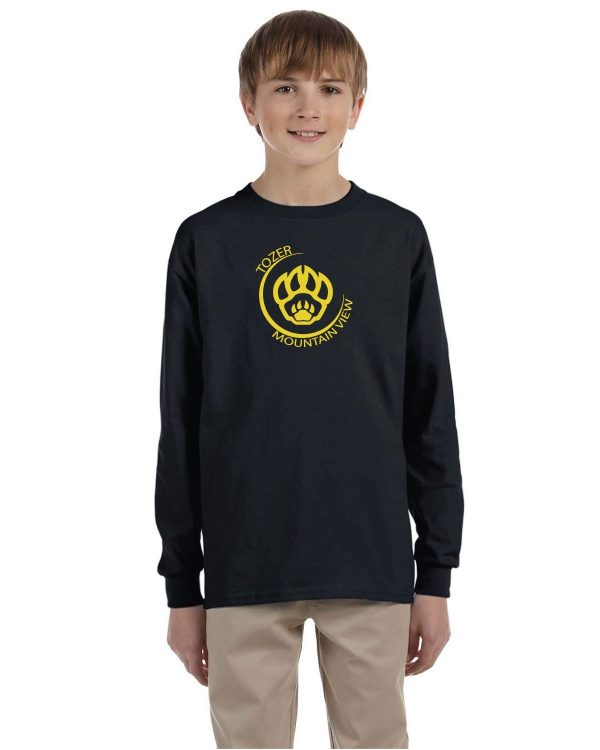 Tozer/Mountain View Elementary School Youth Black Long Sleeve Cotton T-Shirt