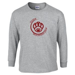 Tozer/Mountain View Elementary School Adult Grey Long Sleeve Cotton T-shirt