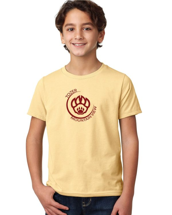 Tozer/Mountain View Elementary School Youth Banana Cream Short Sleeve Cotton T-shirt