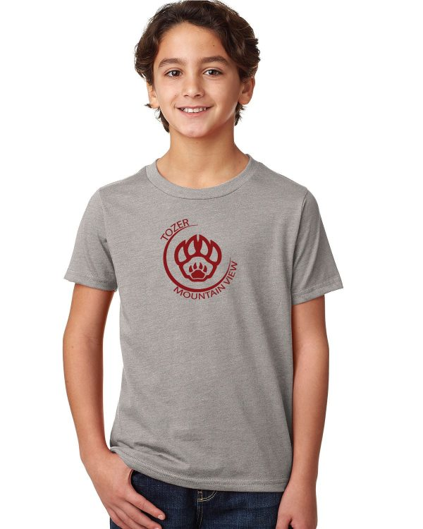 Tozer/Mountain View Elementary School Youth Grey Short Sleeve Cotton T-shirt