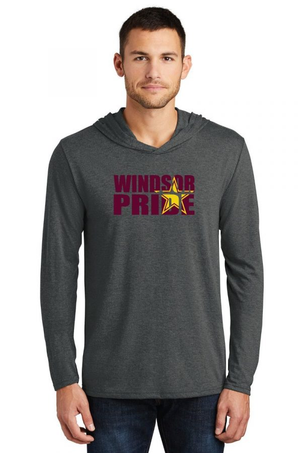 Windsor High Marching Band hooded t-shirt Distict Made DM139 with bling logo