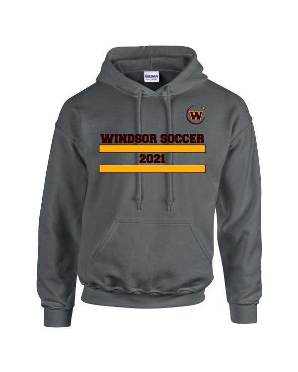 Windsor High School Soccer Gidlan 18500 charcoal Spirit Pack hoodie