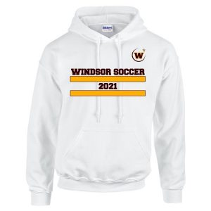 Windsor High School Soccer Gidlan 185000 white Spirit Pack hoodie