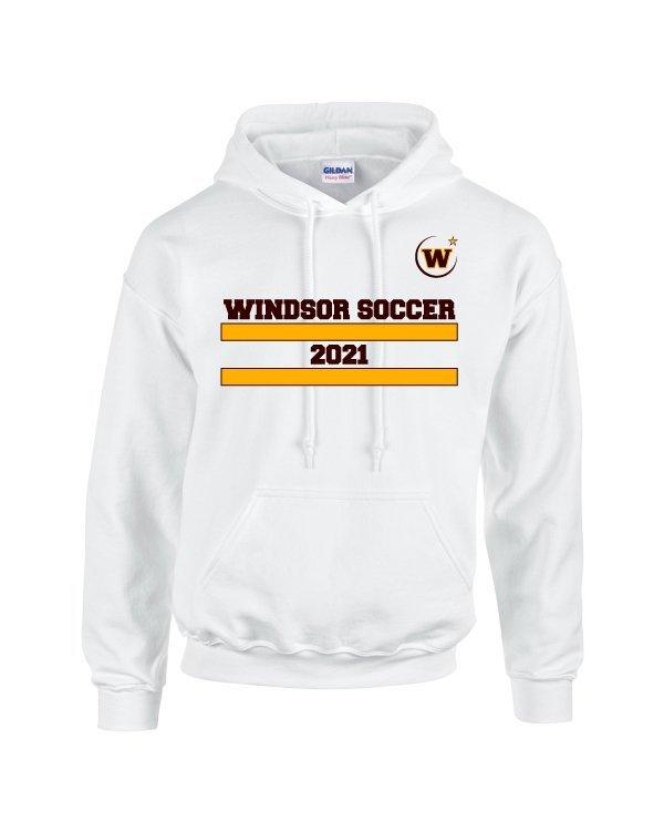 Windsor High School Soccer Gidlan 185000 white Spirit Pack hoodie