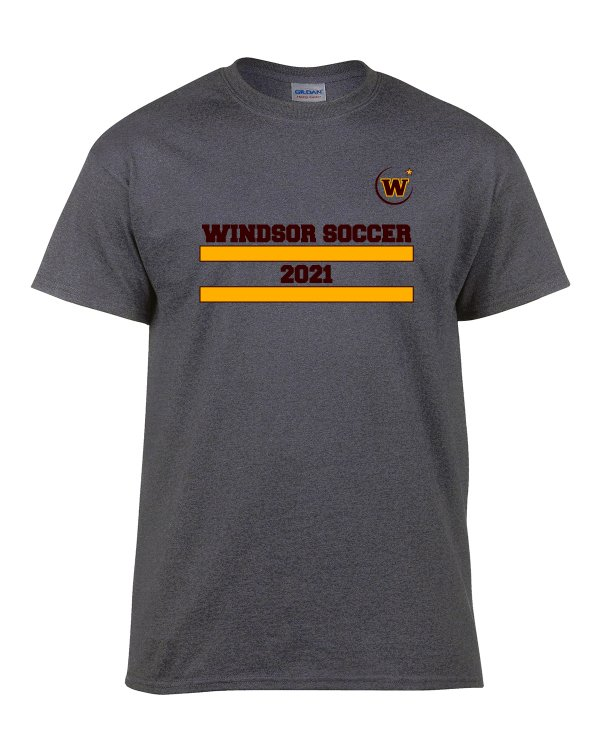 Windsor High School Soccer Gidlan 5000 charcoal Spirit Pack t-shirt