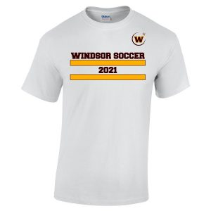Windsor High School Soccer Gidlan 5000 white Spirit Pack t-shirt