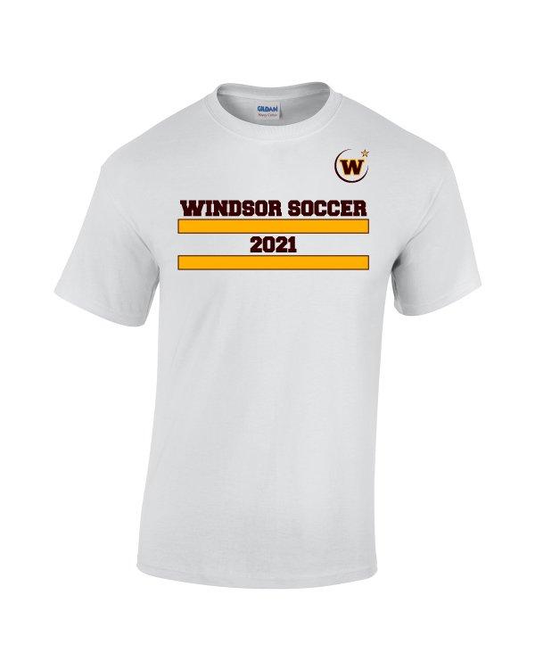 Windsor High School Soccer Gidlan 5000 white Spirit Pack t-shirt