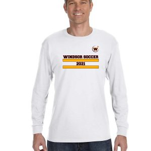 Windsor High School Soccer Gidlan 5400 white Spirit Pack long sleeve t-shirt