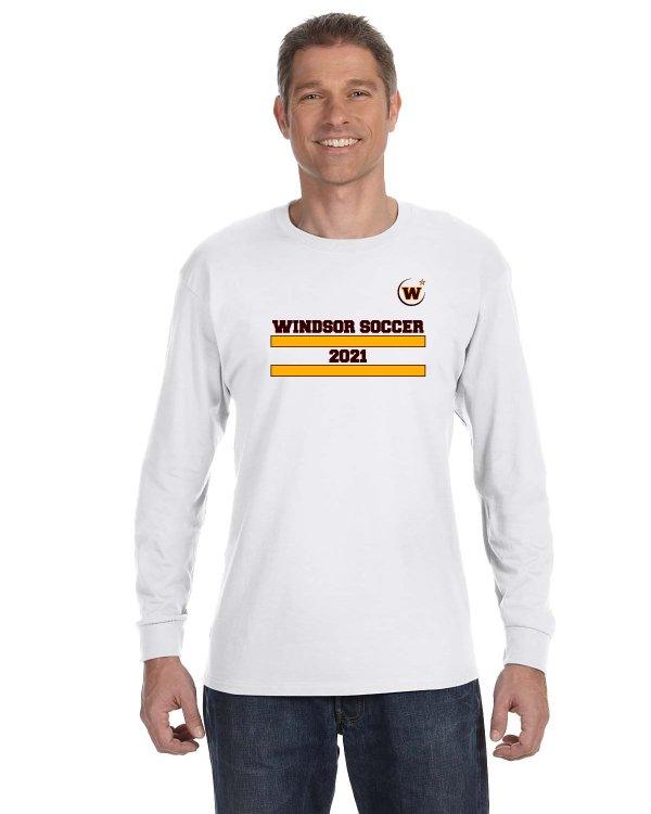 Windsor High School Soccer Gidlan 5400 white Spirit Pack long sleeve t-shirt