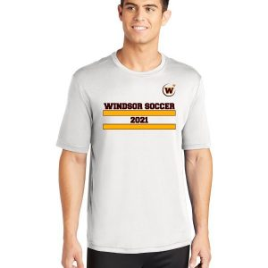 Windsor High School ST350 white soccer spriit pack shirt