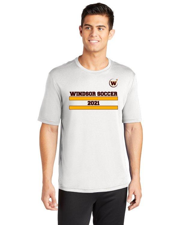 Windsor High School ST350 white soccer spriit pack shirt
