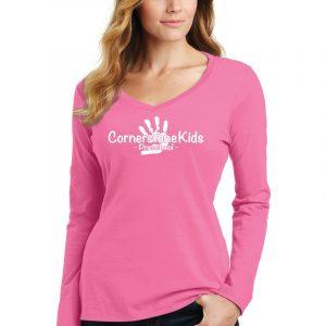 Cornerstone Kids Ladies Long Sleeve V-Neck
