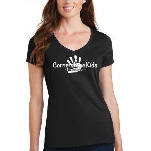 Cornerstone Kids Ladies V-Neck T-Shirt