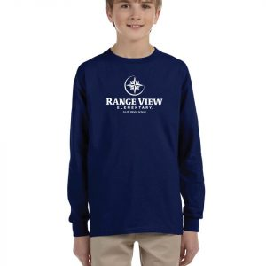 Range View Elementary School Youth Navy Long Sleeve Cotton T-Shirt